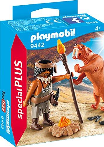 PLAYMOBIL- Neandertal con Tigre Dientes de Sable Juguete, Multicolor (geobra Brandstätter 9442)