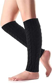 Tacobear Stulpen Damen Winter Warm Beinstulpen Stiefelstulpen Gestrick Beinwärmer Stulpen Kniehohe Legwarmer für Damen Mädchen mit Geschenktüte