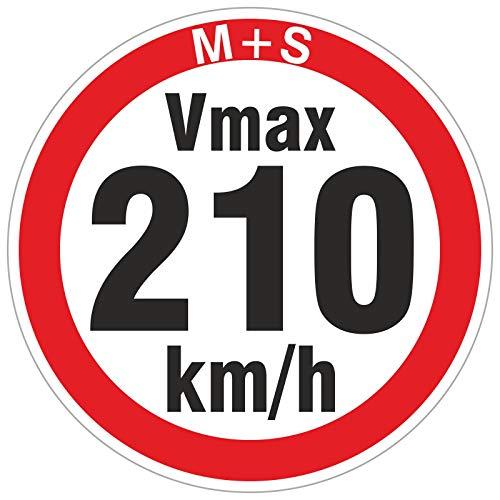 210 km/h 50 Stück Geschwindigkeitsaufkleber Aufkleber Reifen Winterreifen Vmax Winterräder