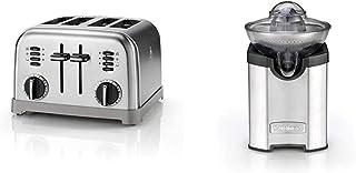 Cuisinart CPT180E Grille-pain 4 tranches, acier inoxydable brossé & Cuisinart CCJ210E Presse-agrumes électrique, en acier ...