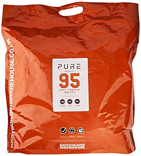 Bodybuilding Warehouse Pure Whey Protein Isolate 95 Powder White Chocolate 4 kg