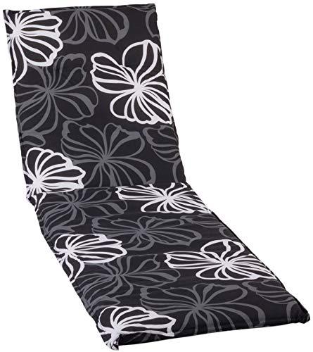 Gartenstuhl Auflage für Gartenliege Silber graue Blüten Hintergrund anthrazit