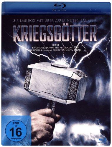 KRIEGSGÖTTER ( 3 Filme Box Blu-ray) Thor - Thunderstorm: The Return of Thor - Herkules und die Prinzessin von Troja