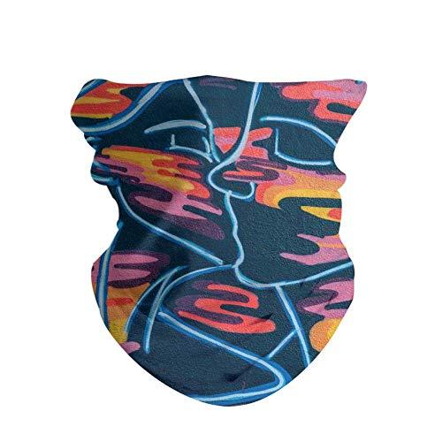 HAOZI 2 piezas para la cabeza para deportes al aire libre, bufanda mágica, diadema elástica de alta resistencia a los rayos UV, atlética para la cabeza para hombre y mujer, color Graffiti, tamaño 50 CM x 25 CM