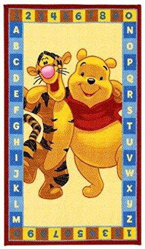 Kinder Teppich Kinderteppich mit Winnie the Pooh / ABC / Teppich / Kinder Teppich / Kinderspielteppich / Kinderteppich / Wandteppich / Modell Kinderteppich Winnie the Puuh Bär / Dieser wunderschöne und Kinderteppich mit Winnie ist in der Größe 140 x 80 cm oder 170 x 100 cm erhältlich / Dieser Kinderteppich begeistert die Kids im Nu. In trendigen Farben wird er zum Blickfang in jedem Kinderzimmer.