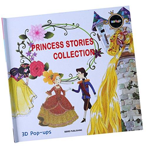 petsola Creativity for Kids Baby - Livres 3D Pop Up - Supports Pédagogiques pour Enfants D'âge Préscolaire - Princesse Histoire