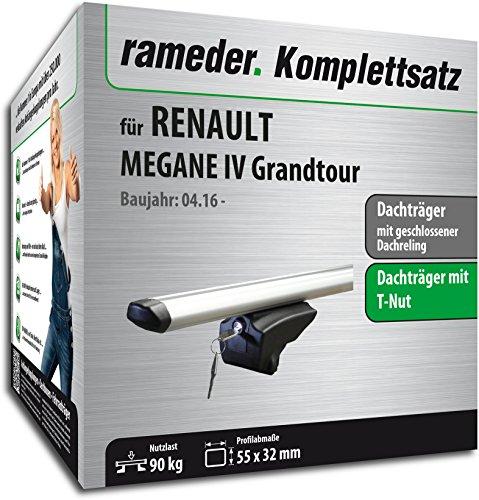 Rameder Set, Dachträger Pick-Up kompatibel für Renault Megane IV Grandtour (111287-36675-57)