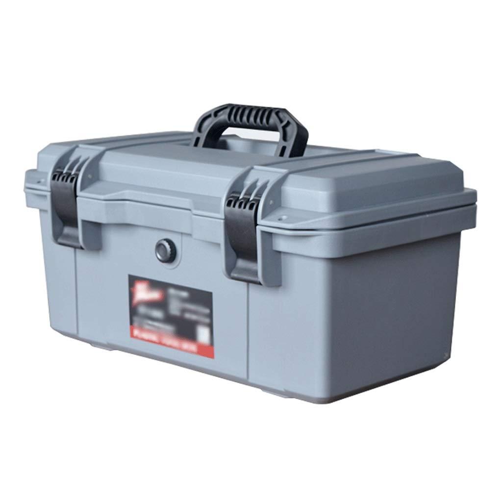 Caja de Herramientas Multiusos 16 Caja de herramientas portátil de plástico Caja de Herramientas pulgadas de Hogares for la herramienta o embarcaciones de almacenamiento que traba la tapa y Almacenami: Amazon.es: Hogar