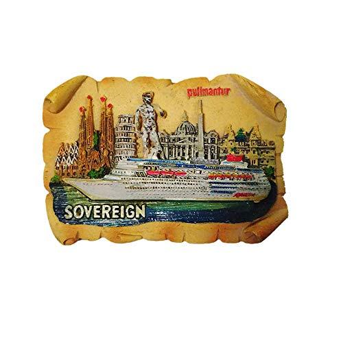 Sovereign Pullmantur Cruises España Imán para nevera recuerdo decoración de regalo nevera magnética etiqueta