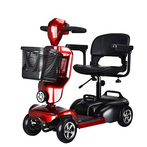 Oaimk Tragbarer Faltbarer Elektroroller 4 Rad Elektromobil Scooter für Erwachsene, Senioren und Behinderte, 300-W-Motor, 35 km-Reichweite, Höchstgeschwindigkeit 10 km/h, Traglast bis zu 150 kg