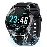 Gretel Smartwatch, Reloj Inteligente con Pulsómetro - Monitor de Sueño, Cronómetros, Notificación Inteligente, Pantalla de 1.3' TFT-LCD, Pulsera Actividad Inteligente Compatibles con Android y iOS