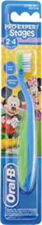 Oral B Stages 2 Disney Mickey Mouse Toothbrush (2-4 Years) 3014260278328, Assorted