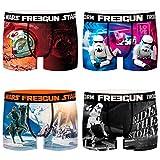 FREEGUN Star Wars - Calzoncillos tipo bóxer para hombre, diseño de Darth Vader Imperator, 4 unidades, tallas S, M, L, XL y XXL, Diseño 2, S