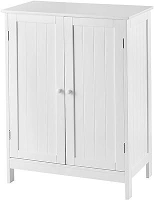 Home Discount mobiletto da Bagno Porte Doppie a Specchio a Parete Storage Furniture Bianco