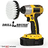 Drill Brush Power Scrubber Blanc 10cm fixation pour perceuse sans fil d'alimentation...
