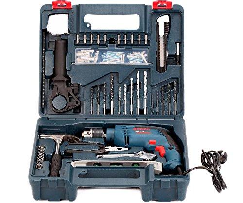 Enfield County Taladro de impacto Bosch GSB 13 RE + 100 piezas Kit de accesorios profesional