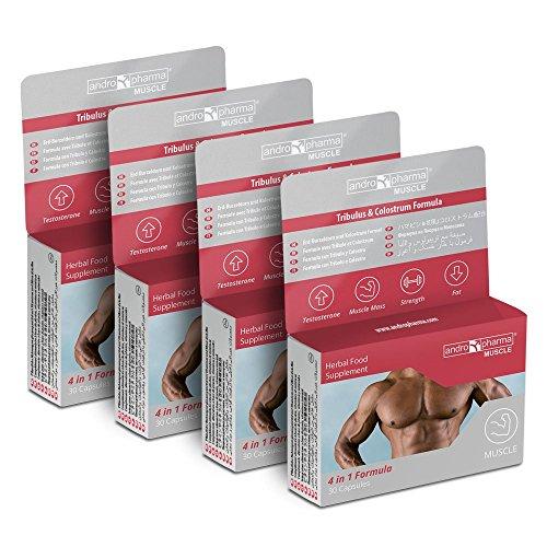 Andropharma X4 Muscle Pastillas Incremento Muscular. GANA Fuerza y Quema Grasa