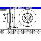 ATE 24.0326-0166.1 Rotores de Discos de Frenos, Set de 2