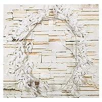 造花 プラスチック造花籐弦人工的なアイビー緑の葉の花輪植物の黄色い葉の花の家の装飾 (Color : White, Size : L 1.65M Dia 5.5cm)