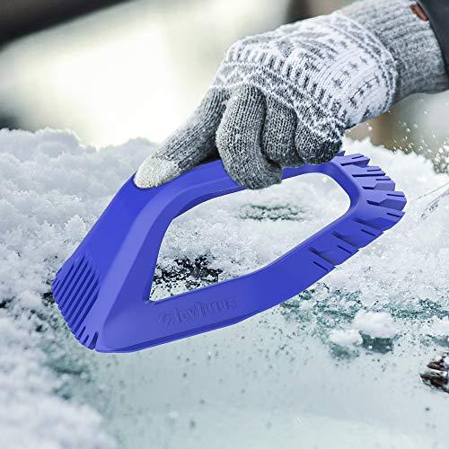 JOYTUTUS Windshield Scraper, 360°Design Car Ice Scraper, No...