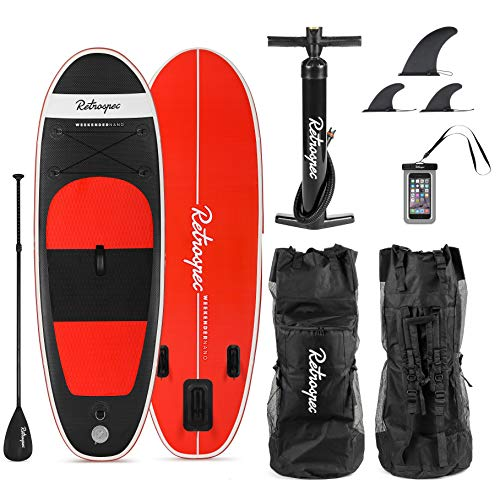 Retrospec Weekender-Nano 8ft. Inflatable Stand Up Paddleboard Triple...