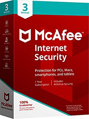 McAfee 2018 Internet Security - 3 Devices [Obsolete]