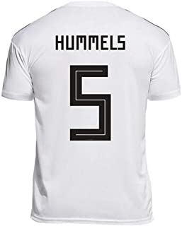 LDFN Mats Hummels#5 Men's Soccer Jersey - Short Sleeve Sports Jersey T-Shirt Fan Shirt (Color : White, Size : XL)