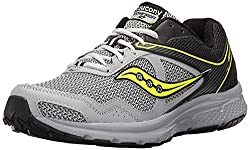 powerful Saucony Cohesion Men's Running Shoes, Black / Gray / Citron, 10 M US