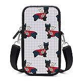 Monedero para teléfono celular con correa para el hombro extraíble para perros en color rojo bolsa impermeable para la cintura de la llave de la cartera, bolso de gimnasio, bolsa unisex