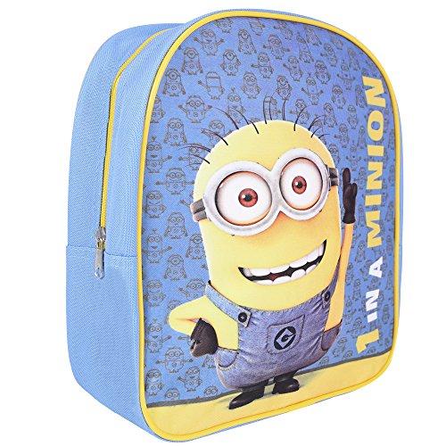 Kinder Rucksack für Jungen Ich Einfach unverbesserlich - Schulranzen mit Bob Minions - Schulrucksack für Schule und Kindergarten mit verstellbaren Schulterriemen - Perletti 28,5x23x7,5 cm