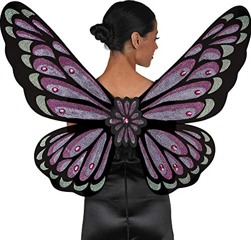 AMSCAN Gothic Jewel Butterfly Wings Halloween Costume Accessories for Adults, One Size