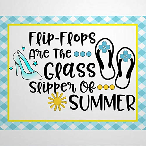 EricauBird Letrero de metal para decoración de pared, diseño de chanclas son la zapatilla de cristal de verano, estilo vintage, divertido para cafetería, bar, garaje, patio, 30,5 x 45,7 cm