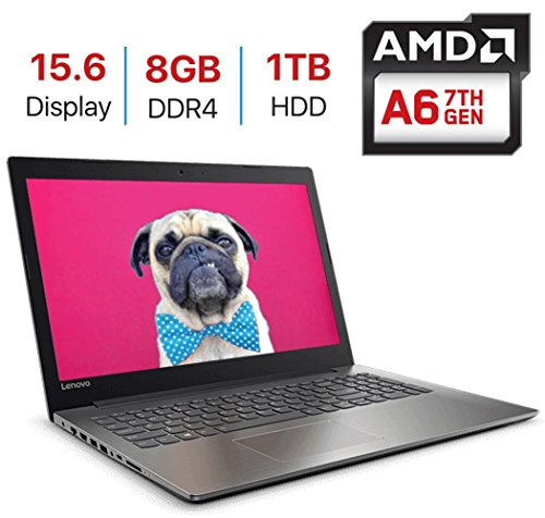 2018 Lenovo IdeaPad 320 15.6-inch HD (1366x768) Display Laptop PC, Quad Core AMD A6-9220 Processor up to 2.9GHz, 8GB DDR4 SDRAM, 1TB HDD, HDMI, Bluetooth, WiFi, Webcam, DVD±RW, Windows 10