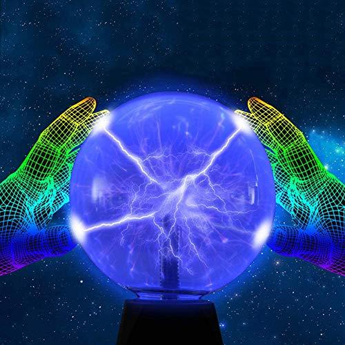 Fikujap Bola de Flash Sensible al Tacto de la Bola de Plasma mágica, Destella la Pelota de Brillo de Juguetes educativos, Adecuado para Fiestas, Decoraciones, Accesorios, niños, dormitorios,Azul