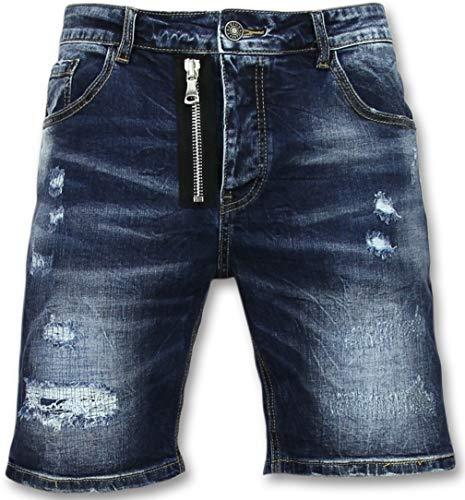 Spijkerbroek Kort Heren - Driekwart Broek Heren - J975 - Blauw