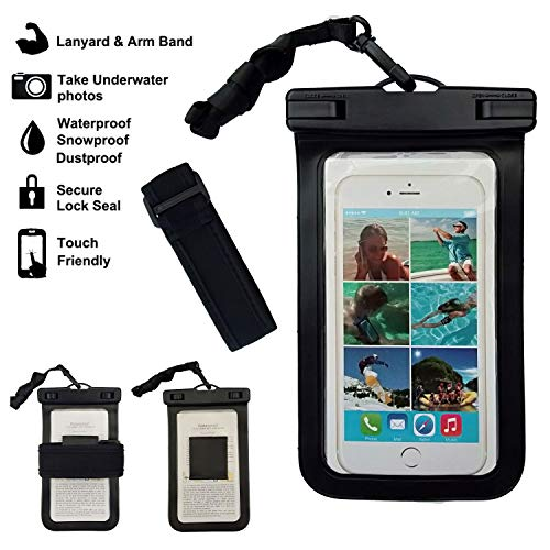 Aqua Plus Universal Waterproof Pouch Phone Dry Bag Underwater TPU Case for iPhone 11 Pro Max XS Max XR X 8 7 6S Plus SE 2020 Galaxy Pixel up to 6.5',for Pool Beach Swimming Kayak Paddle(Black+Black)