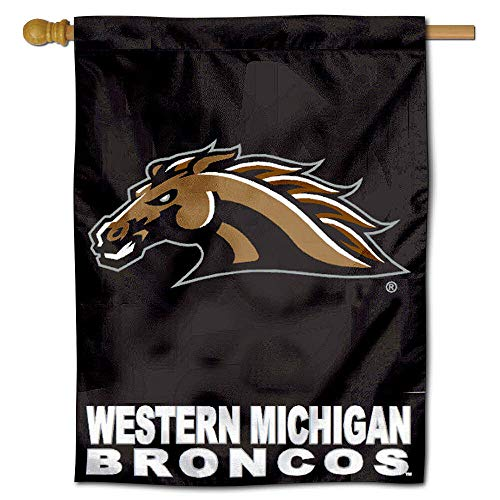 College Flags & Banners Co. Western Michigan University Broncos House Flag