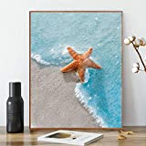 Karyees Beach Paint by Number Starfish Paint by Numbers Beach DIY Canvas Paint by Number Sea Acrylic Painting Kit Home Decoration Paint by Number Life at Beach for Adults Kids Beginners 16x20In