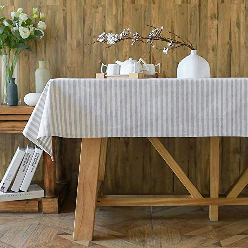 HXRA Tafelkleden Outdoor tafelkleden Gestreepte stof eettafel salontafel doek bureau landelijke home cover doek