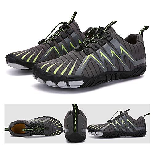 KUXUAN Zapatos de Senderismo para Hombres y Mujeres,Escalada en El Río,Ciclismo,Zapatos de Cinco Dedos,Bicicletas Transfronterizas,Calzado Deportivo Al Aire Libre,Grey-41EU=(265mm)