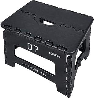 スロウワー(SLOWER) 踏み台 ブラック 22×32×25cm 折りたたみ タバック SLW 131