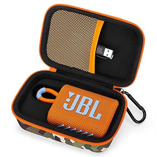 Yinke Tasche Hülle für JBL GO3 GO 3 Bluetooth-Lautsprecher, Hard Carry Travel Aufbewahrungstasche Etui Hülle (Camouflage)