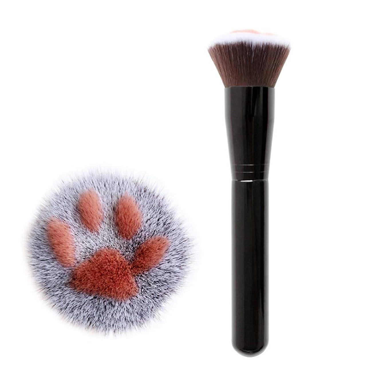 シャイ比喩面積TerGOOSE メイクブラシ 化粧筆 専用メイクブラシ アイシャドウブラシ ブラシ 猫の爪 高級繊維毛 コスメ 高品質 目元 可愛い 快適な 安全性 オシャレ 人気 ギフト(ブラック)