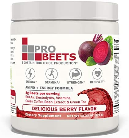 PROBEETS Nitric Oxide Amino Acid Circulation Superfood Organic Beets BCAA L citrulline Green product image