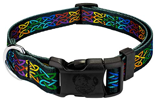 Country Brook Petz - Deluxe Celtic Pride Dog Collar - Irish Pride Collection with 3 Lucky Designs (1 Inch, Large) - Made in The U.S.A.