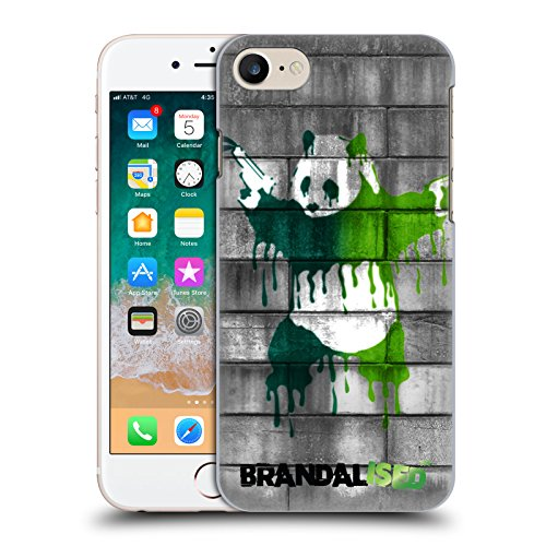 Head Case Designs Offizielle Brandalised - Banksy's Graffiti Farbige Tropfen Panda Pistolen Harte Rueckseiten Huelle kompatibel mit Apple iPhone 7 / iPhone 8 / iPhone SE 2020