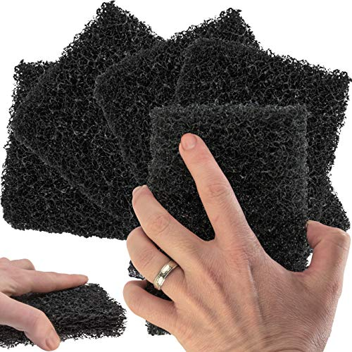 Restaurant-Grade Griddle Cleaning Pads 5 Pack. Use on Metal Grills, Cast Iron Cooktops & Stainless Steel Flat Tops. Quickly Cleans & Scours Baked-On Grease & Carbon. Heavy Duty, 4x6 Grit Scouring Pads