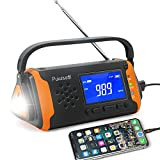 Emergency-Radio with NOAA Weather Alert, 4000mah Hand Crank Portable Solar Survival Radios...