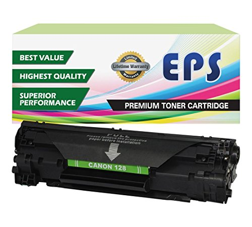 EPS Compatible Toner Cartridge Replacement for Canon 128 (Black)