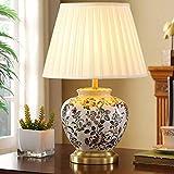 Zenghh Grabado turco marroquí césped tótem nocturno luz, árabe oriental bohemia cerámica mosaico de cristal hermoso mesa de mesa, lámpara de dormitorio de bronce de bronce puro lindo chunky lámpara de